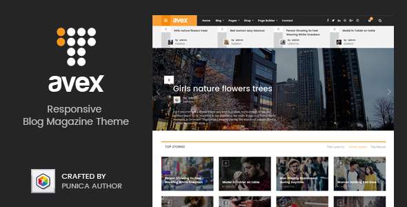 Avex Preview Wordpress Theme - Rating, Reviews, Preview, Demo & Download