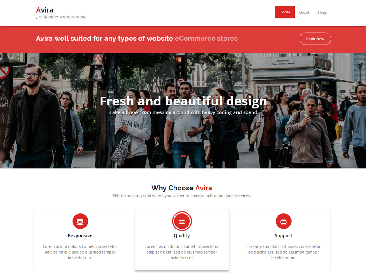 Avira Preview Wordpress Theme - Rating, Reviews, Preview, Demo & Download