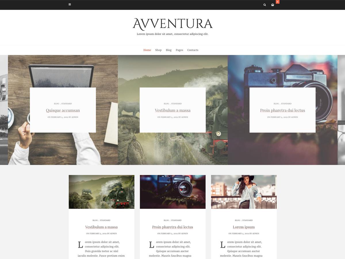 Avventura Lite Preview Wordpress Theme - Rating, Reviews, Preview, Demo & Download