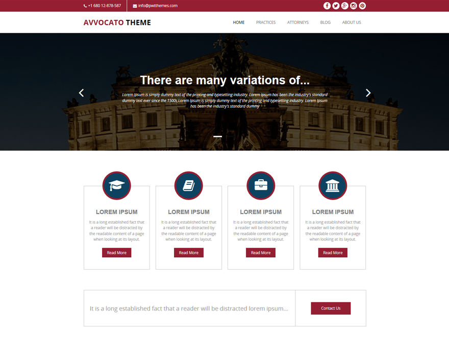 Avvocato Preview Wordpress Theme - Rating, Reviews, Preview, Demo & Download
