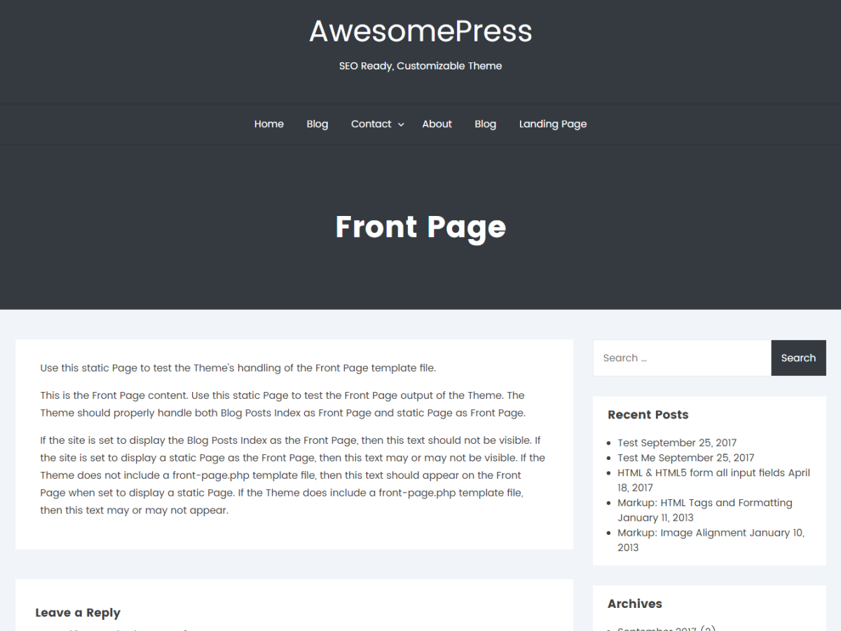 AwesomePress Preview Wordpress Theme - Rating, Reviews, Preview, Demo & Download