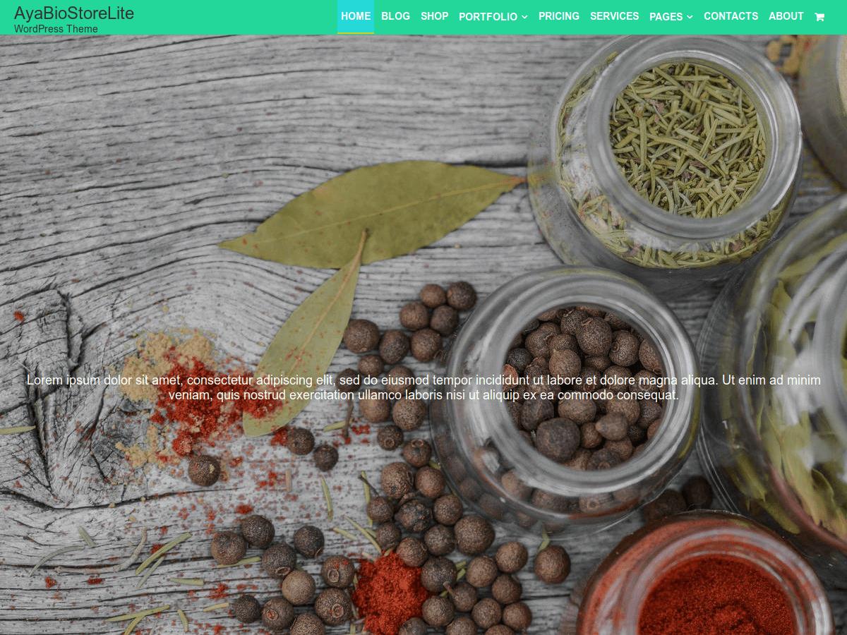 AyaBioStoreLite Preview Wordpress Theme - Rating, Reviews, Preview, Demo & Download