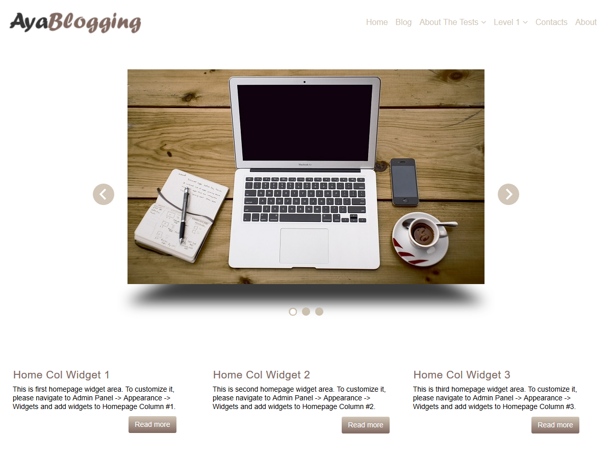 AyaBlogging Preview Wordpress Theme - Rating, Reviews, Preview, Demo & Download