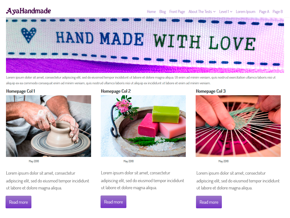 AyaHandmade Preview Wordpress Theme - Rating, Reviews, Preview, Demo & Download