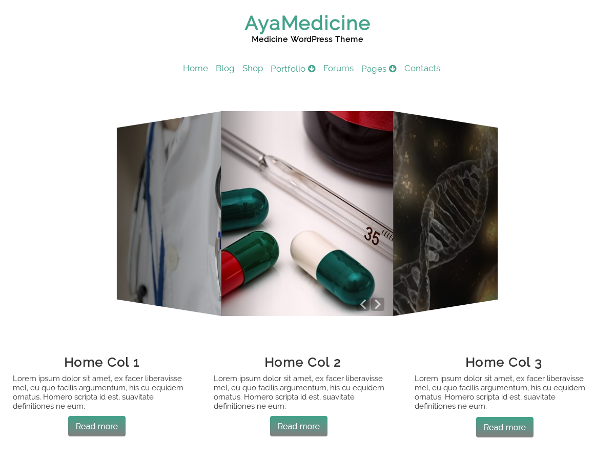 AyaMedicine Preview Wordpress Theme - Rating, Reviews, Preview, Demo & Download