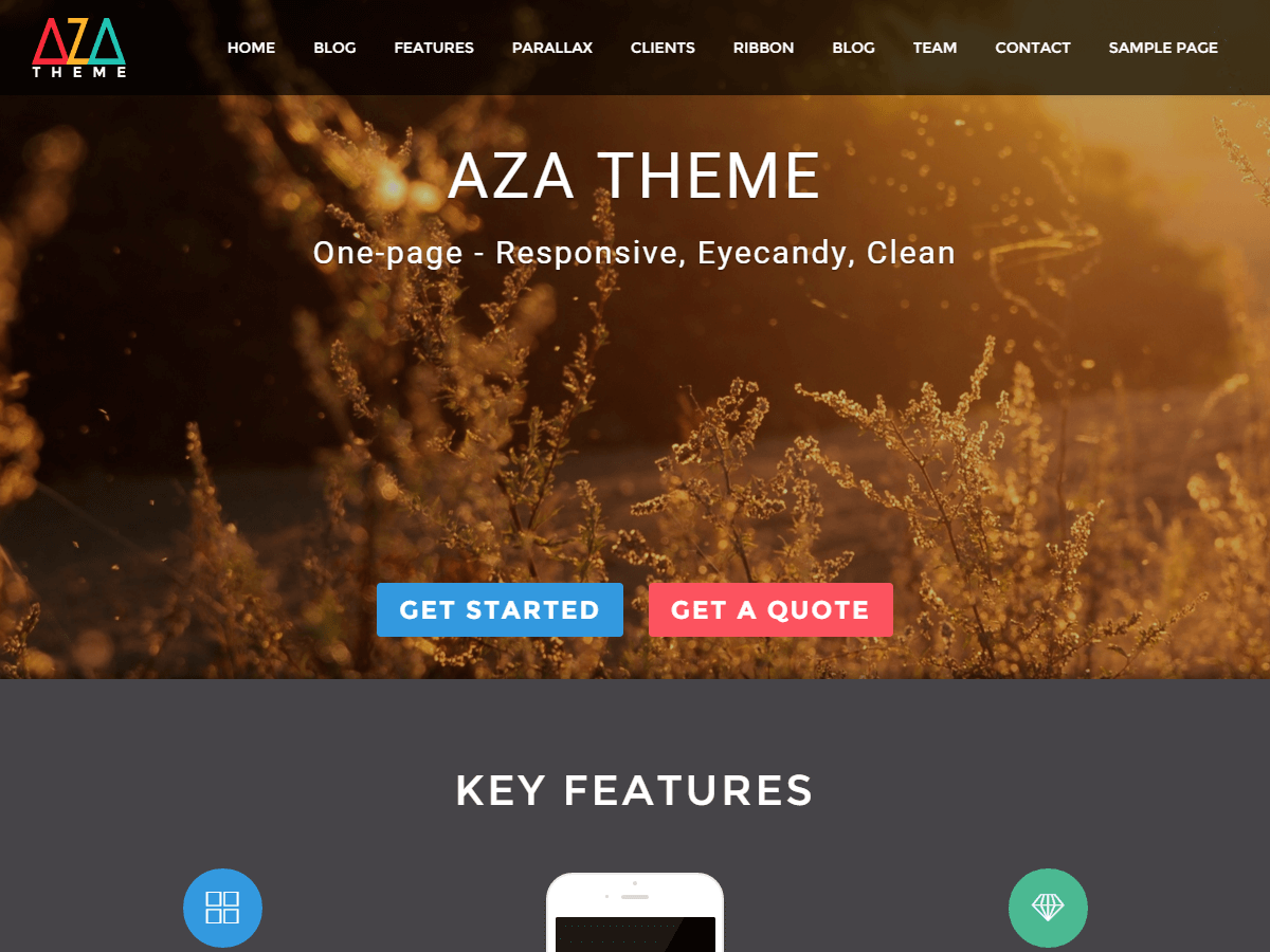 AZA Lite Preview Wordpress Theme - Rating, Reviews, Preview, Demo & Download