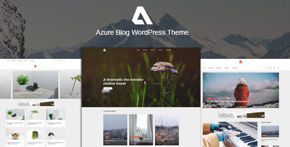 Azure Preview Wordpress Theme - Rating, Reviews, Preview, Demo & Download