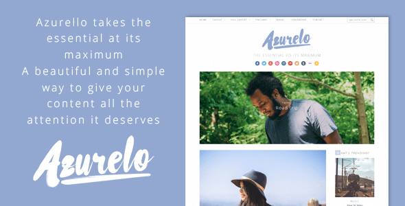 Azurelo Preview Wordpress Theme - Rating, Reviews, Preview, Demo & Download