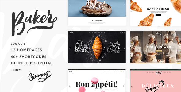 Baker Preview Wordpress Theme - Rating, Reviews, Preview, Demo & Download