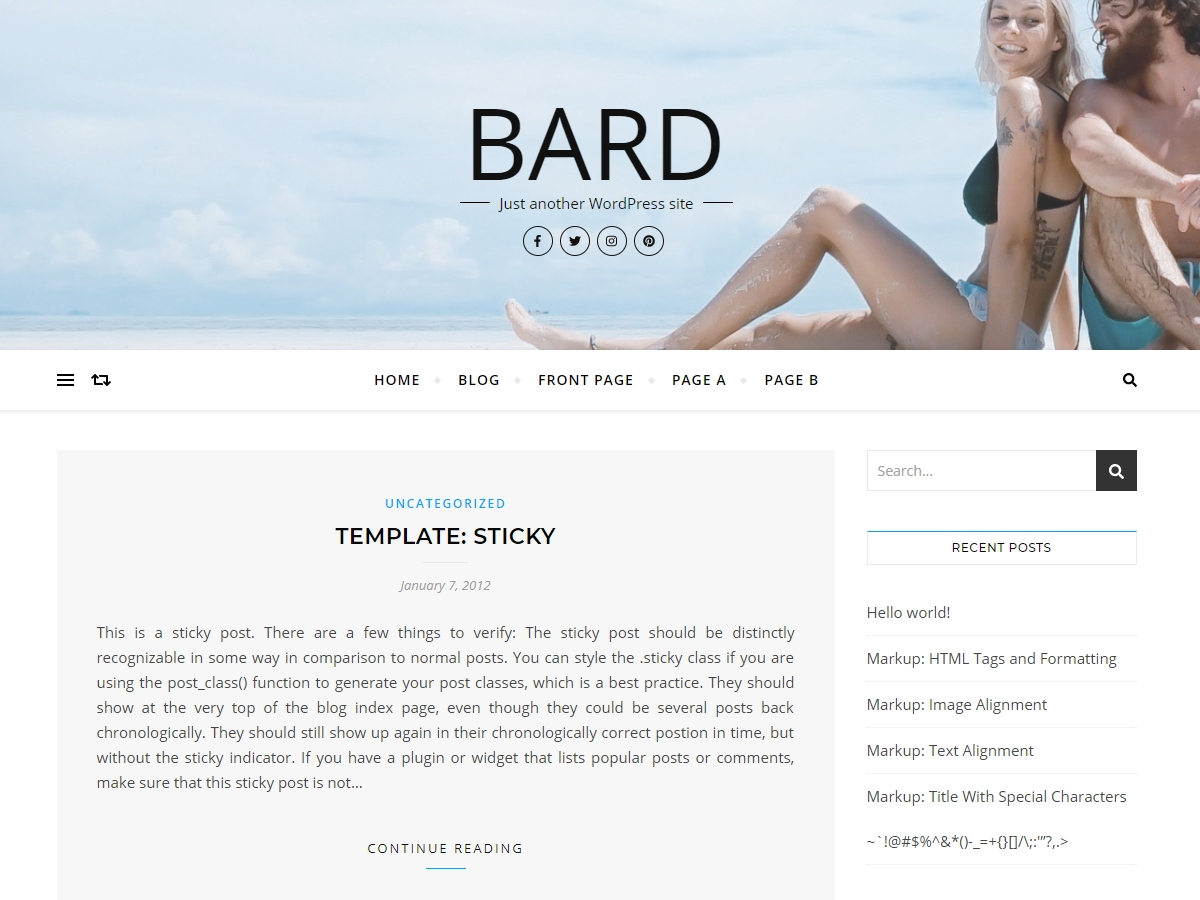 Bard Preview Wordpress Theme - Rating, Reviews, Preview, Demo & Download