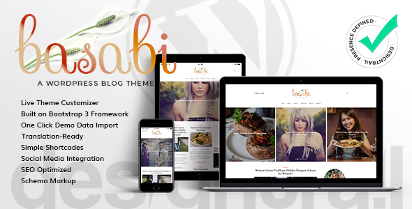 Basabi Preview Wordpress Theme - Rating, Reviews, Preview, Demo & Download