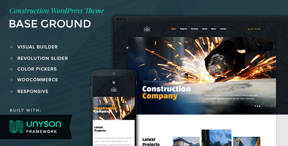 Base Ground Preview Wordpress Theme - Rating, Reviews, Preview, Demo & Download
