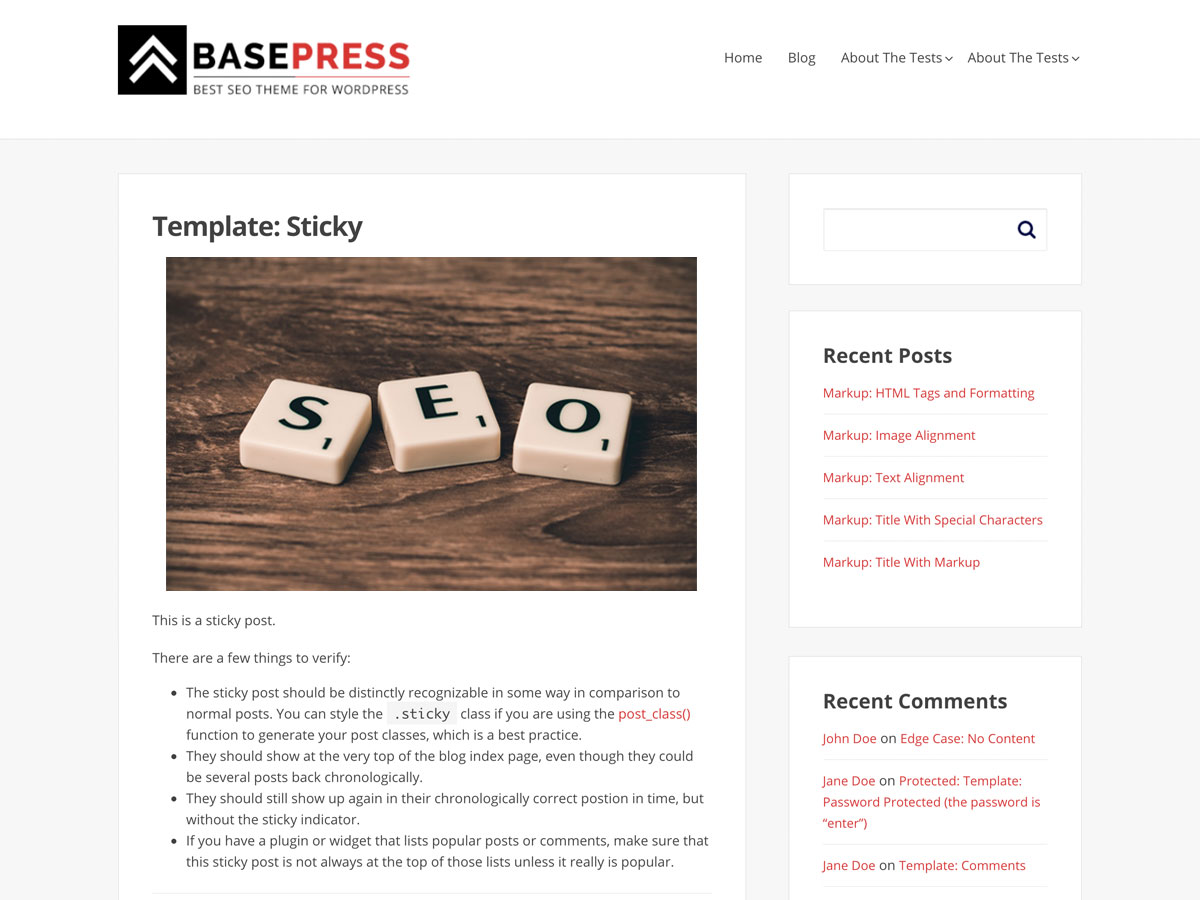 BasePress Preview Wordpress Theme - Rating, Reviews, Preview, Demo & Download