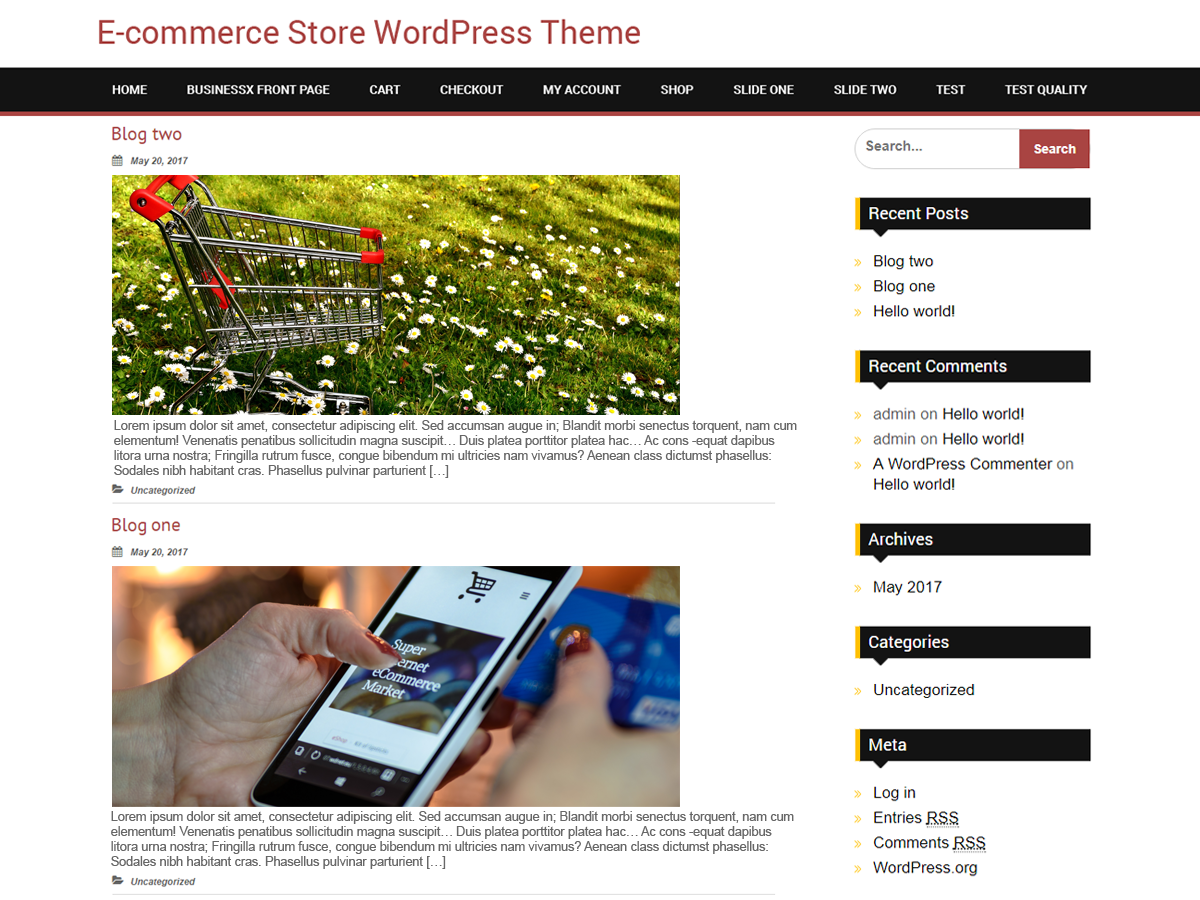 BB Ecommerce Preview Wordpress Theme - Rating, Reviews, Preview, Demo & Download