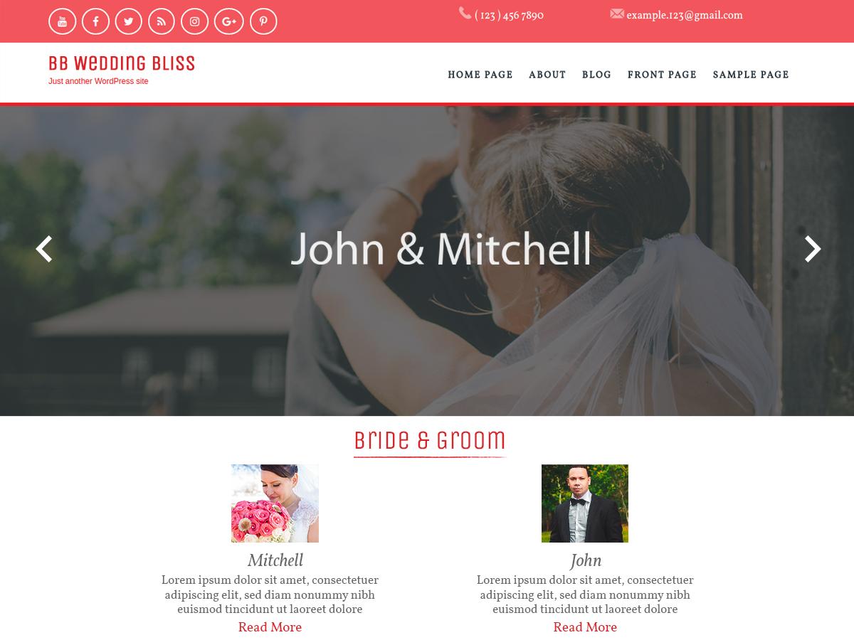 BB Wedding Preview Wordpress Theme - Rating, Reviews, Preview, Demo & Download