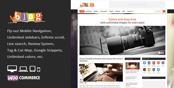 Bblog Preview Wordpress Theme - Rating, Reviews, Preview, Demo & Download