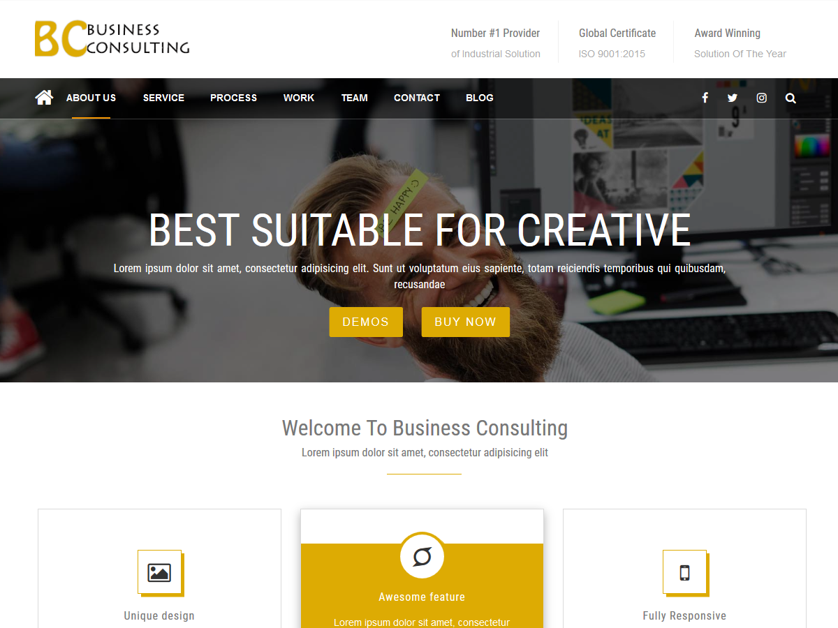 BC Business Preview Wordpress Theme - Rating, Reviews, Preview, Demo & Download