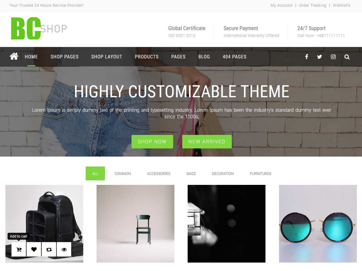 BC Shop Preview Wordpress Theme - Rating, Reviews, Preview, Demo & Download