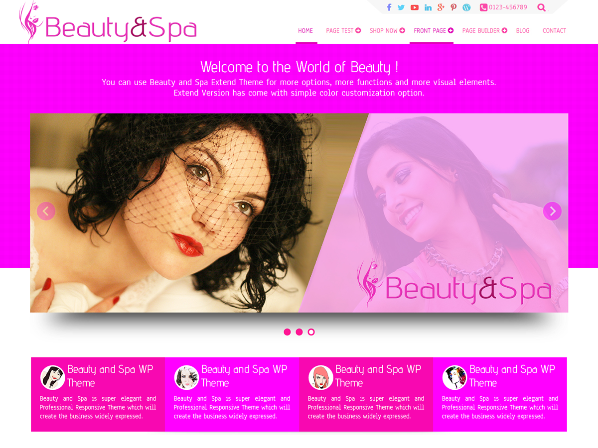 Beauty And Preview Wordpress Theme - Rating, Reviews, Preview, Demo & Download