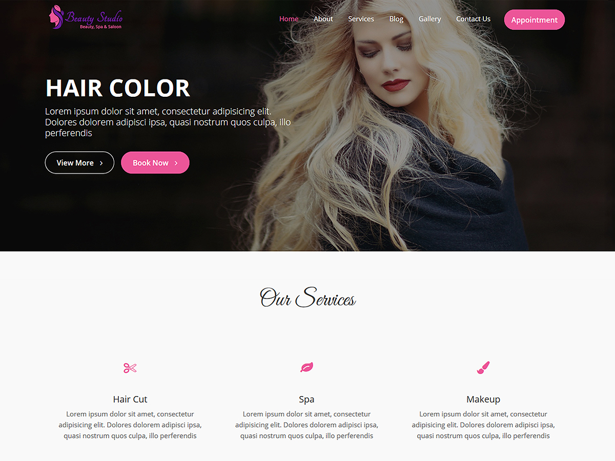 Beauty Studio Preview Wordpress Theme - Rating, Reviews, Preview, Demo & Download