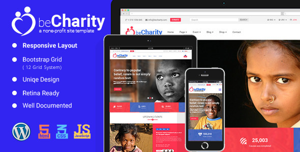 BeCharity Preview Wordpress Theme - Rating, Reviews, Preview, Demo & Download