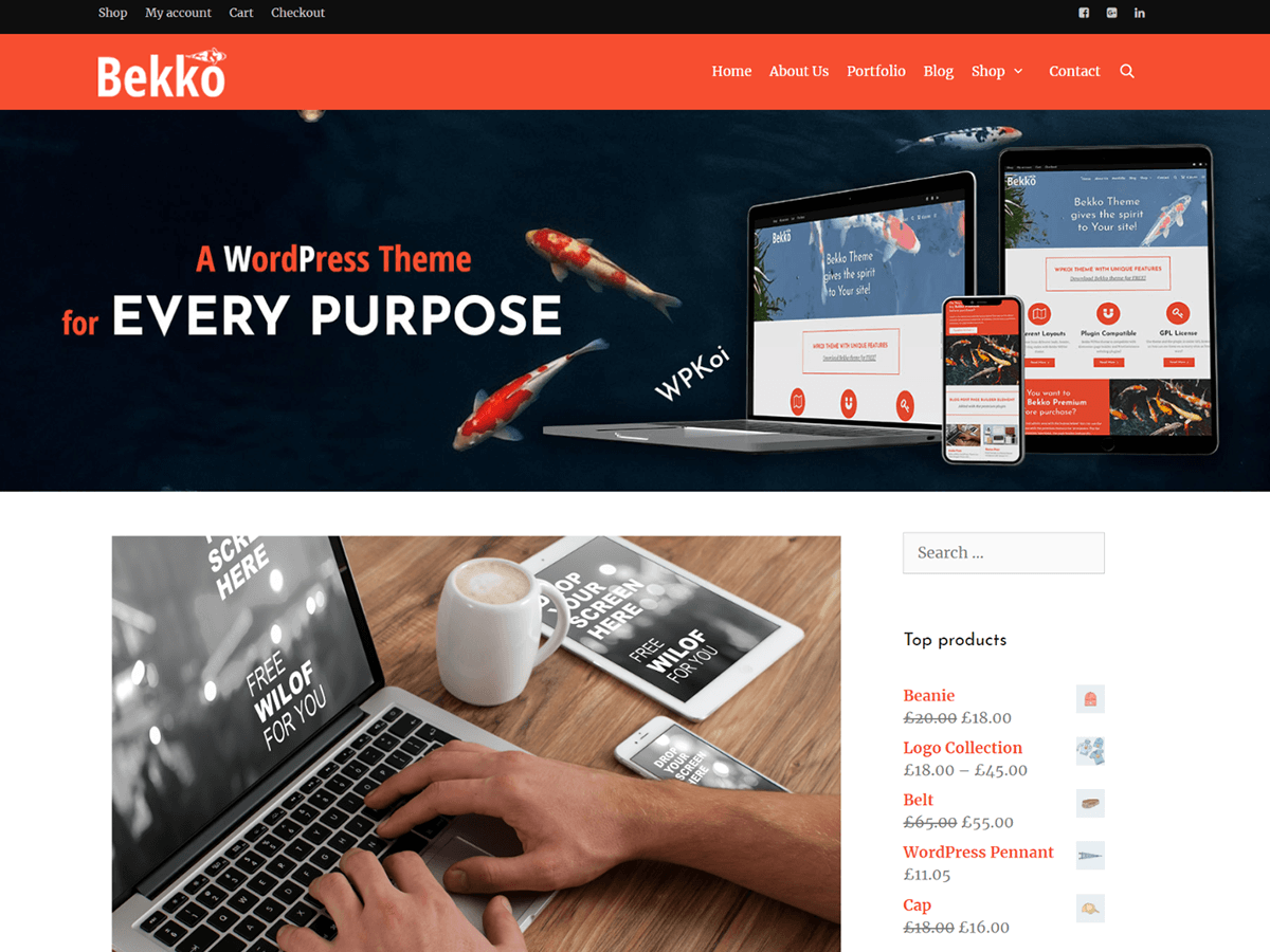 Bekko Preview Wordpress Theme - Rating, Reviews, Preview, Demo & Download