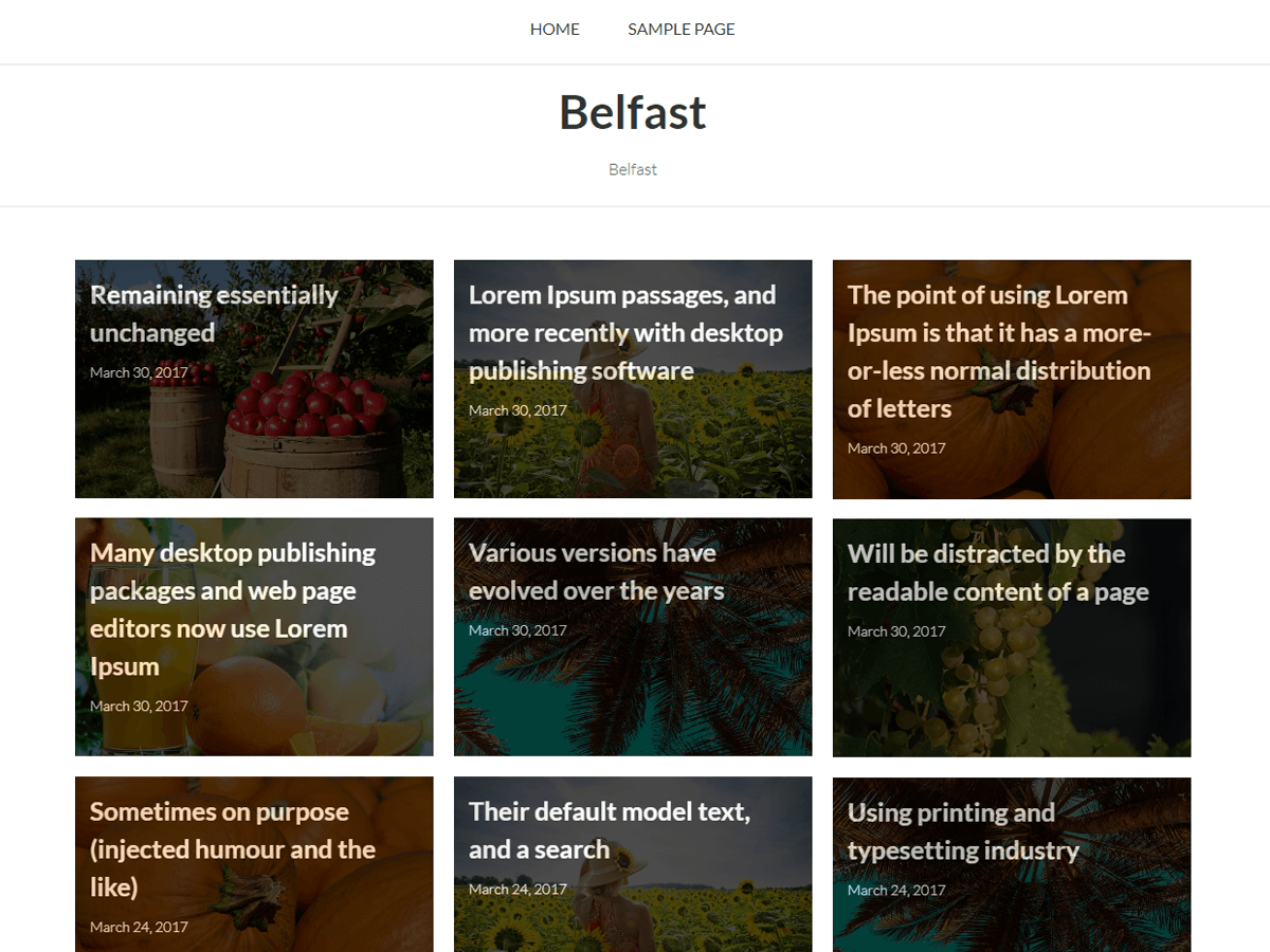 Belfast Preview Wordpress Theme - Rating, Reviews, Preview, Demo & Download