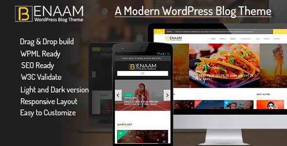 Benaam Multipurpose Preview Wordpress Theme - Rating, Reviews, Preview, Demo & Download