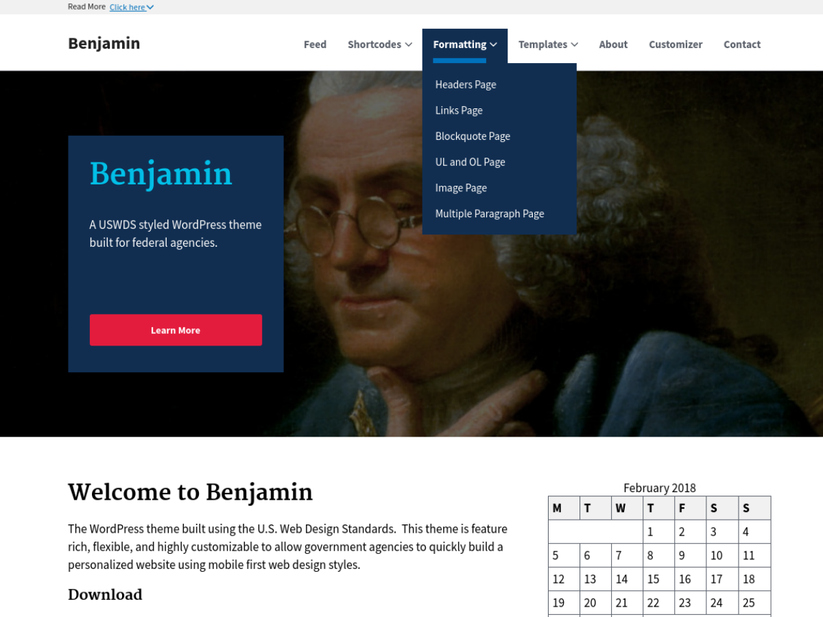 Benjamin Preview Wordpress Theme - Rating, Reviews, Preview, Demo & Download