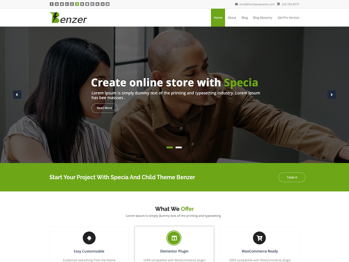 Benzer Preview Wordpress Theme - Rating, Reviews, Preview, Demo & Download