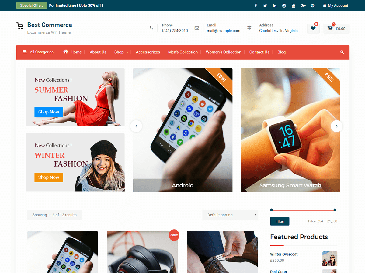 Best Commerce Preview Wordpress Theme - Rating, Reviews, Preview, Demo & Download