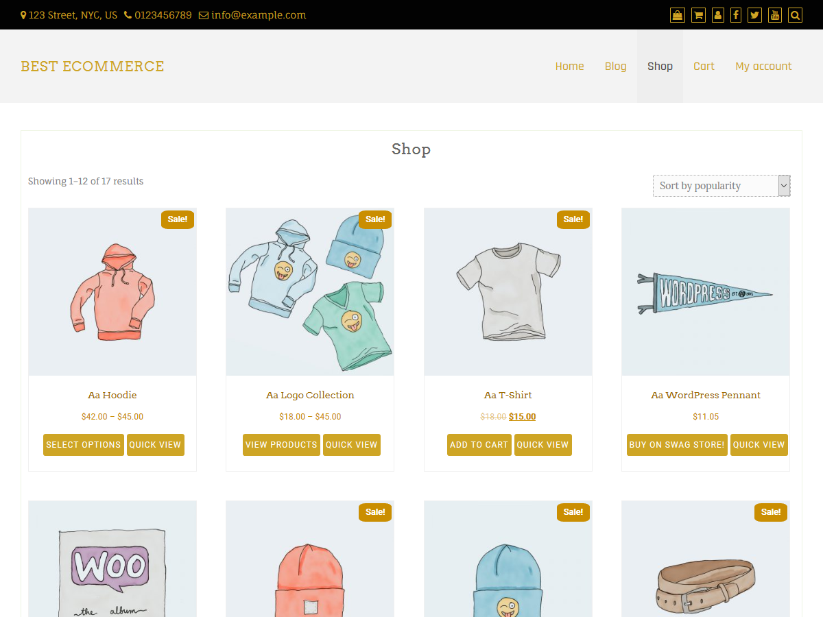 Best ECommerce Preview Wordpress Theme - Rating, Reviews, Preview, Demo & Download