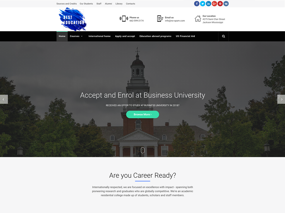 Best Education Preview Wordpress Theme - Rating, Reviews, Preview, Demo & Download