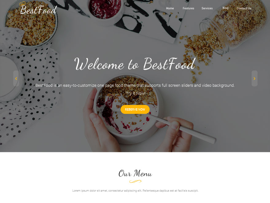Best Food Preview Wordpress Theme - Rating, Reviews, Preview, Demo & Download