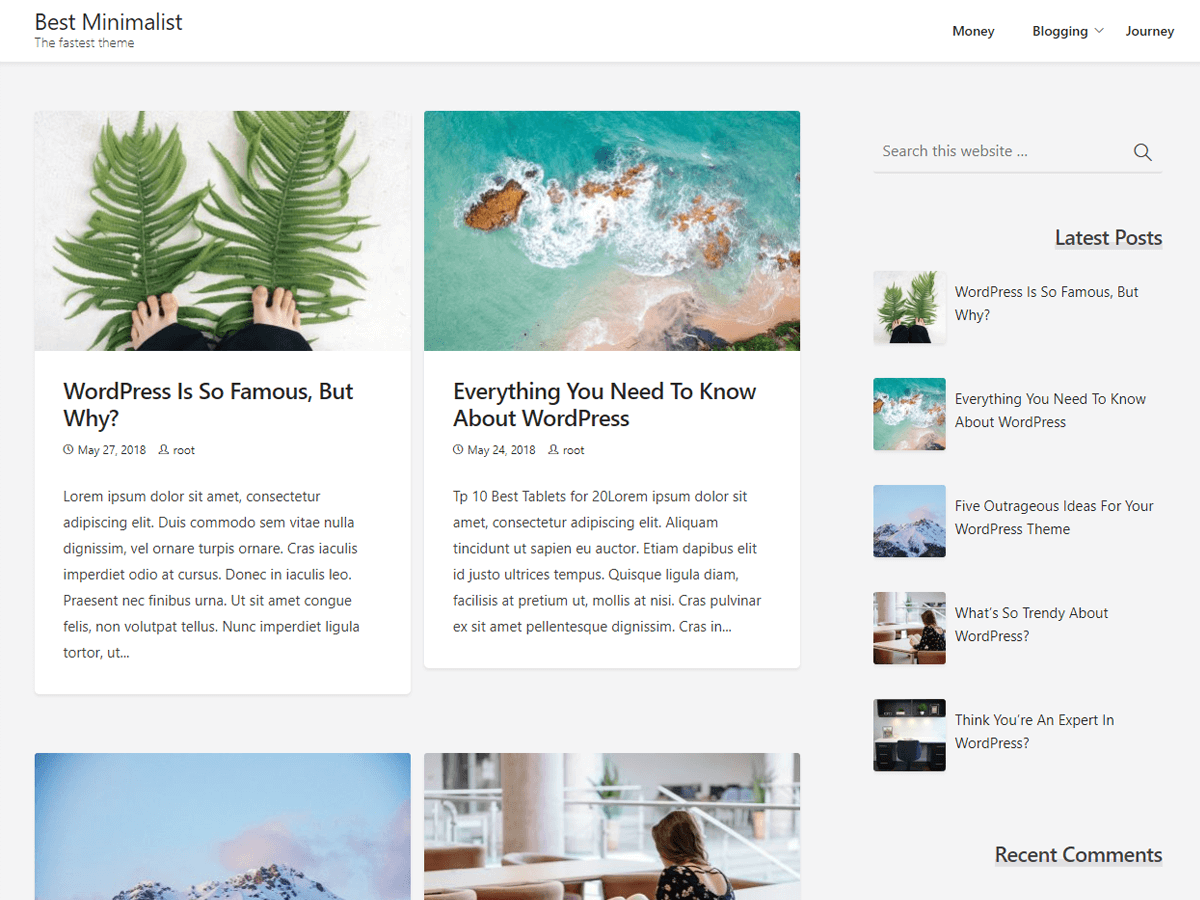 Best Minimalist Preview Wordpress Theme - Rating, Reviews, Preview, Demo & Download
