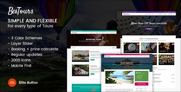 BESTOURS Preview Wordpress Theme - Rating, Reviews, Preview, Demo & Download