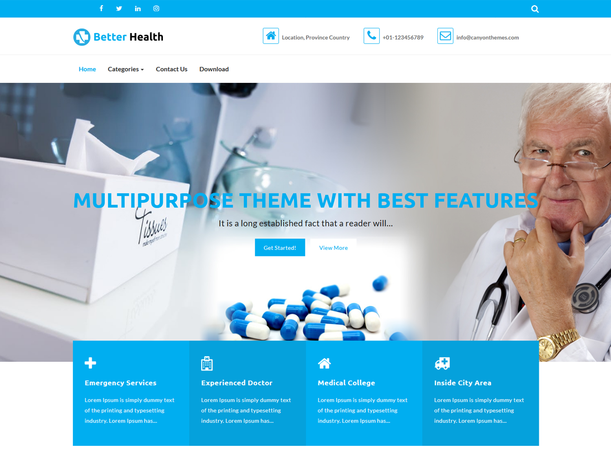 Better Health Preview Wordpress Theme - Rating, Reviews, Preview, Demo & Download