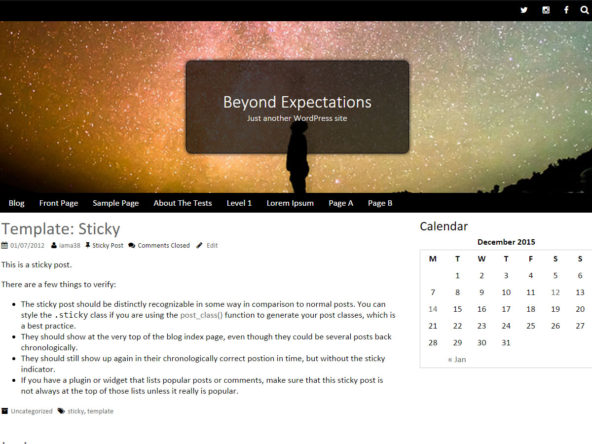 Beyond Expectations Preview Wordpress Theme - Rating, Reviews, Preview, Demo & Download