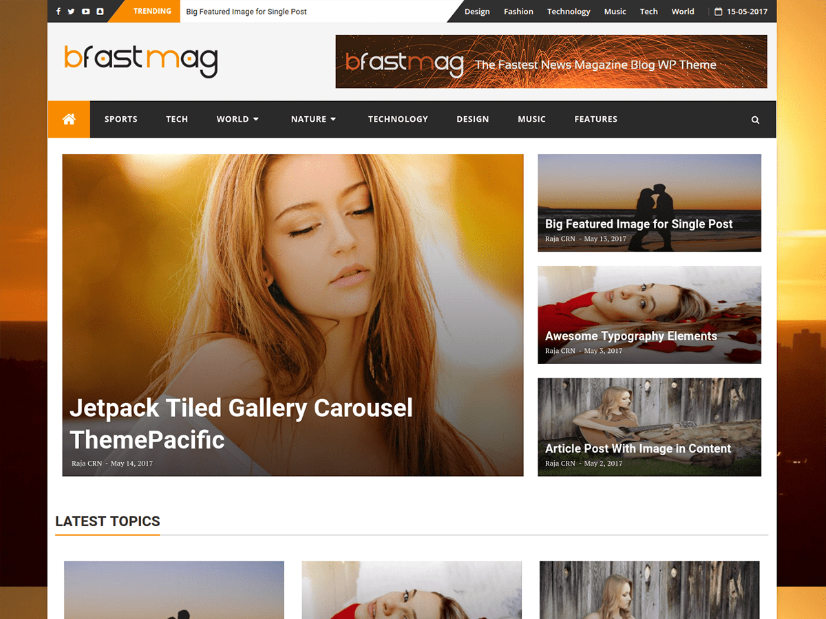 BFastMag Preview Wordpress Theme - Rating, Reviews, Preview, Demo & Download
