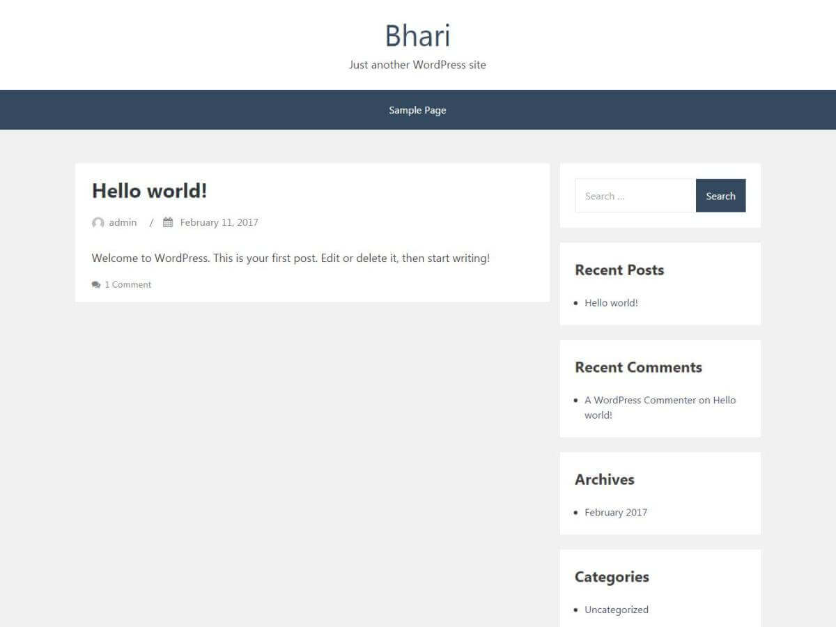 Bhari Preview Wordpress Theme - Rating, Reviews, Preview, Demo & Download
