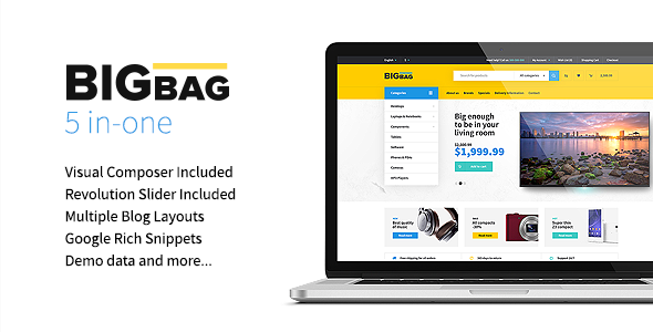 BigBag Preview Wordpress Theme - Rating, Reviews, Preview, Demo & Download