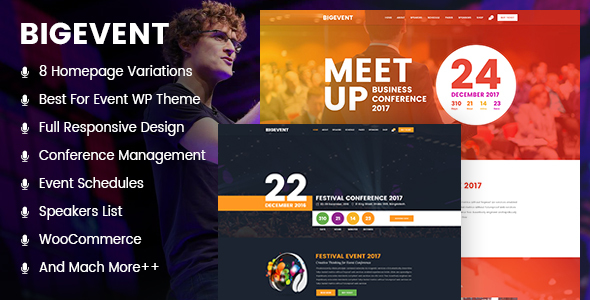 BigEvent Preview Wordpress Theme - Rating, Reviews, Preview, Demo & Download