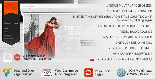 BigOne Preview Wordpress Theme - Rating, Reviews, Preview, Demo & Download