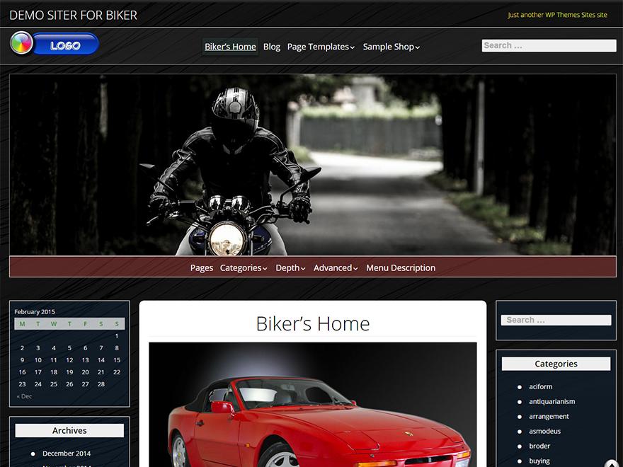 Biker Preview Wordpress Theme - Rating, Reviews, Preview, Demo & Download