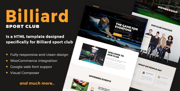 Billiard Preview Wordpress Theme - Rating, Reviews, Preview, Demo & Download