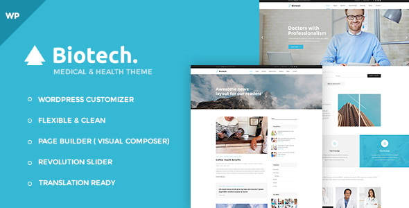 Biotech Preview Wordpress Theme - Rating, Reviews, Preview, Demo & Download