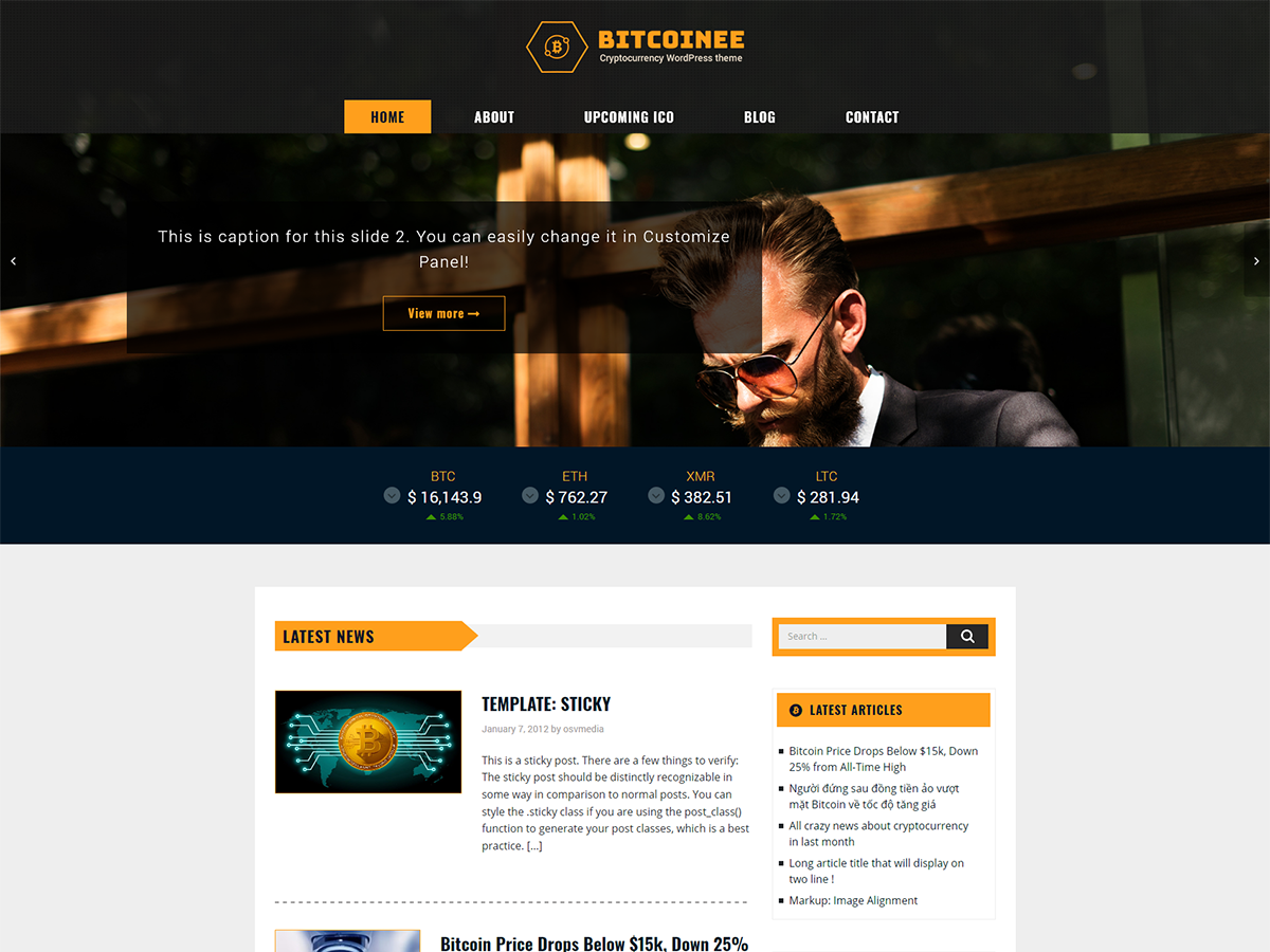 Bitcoinee Preview Wordpress Theme - Rating, Reviews, Preview, Demo & Download