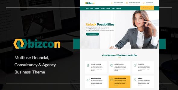 Bizcon Preview Wordpress Theme - Rating, Reviews, Preview, Demo & Download