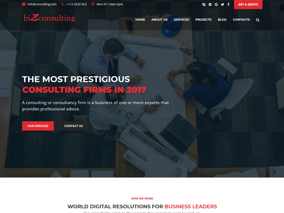 Bizconsulting Preview Wordpress Theme - Rating, Reviews, Preview, Demo & Download