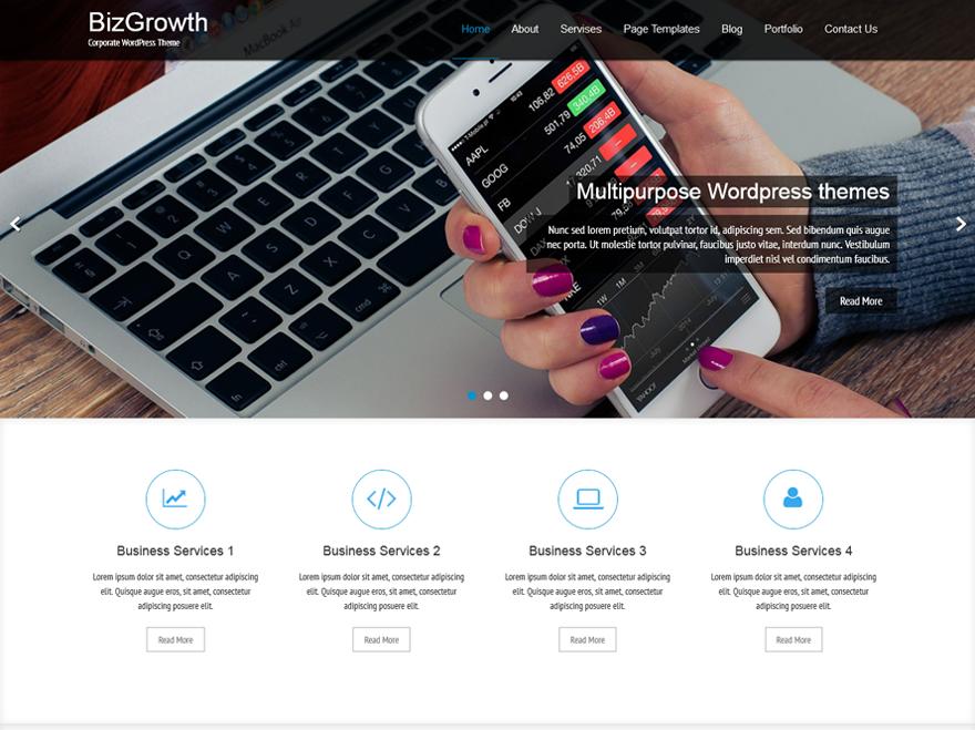 BizGrowth Preview Wordpress Theme - Rating, Reviews, Preview, Demo & Download
